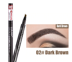 Лайнер маркер тату для бровей LULAA тон 02 Dark Brown