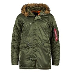 Куртка Alpha Industries SLIM FIT N-3B PARKA Sage/Orange, S